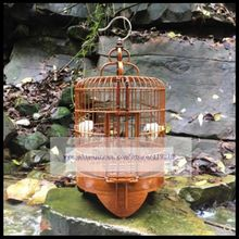 1Set Thrush birdcage 36cm bamboo pure manual starling grackle bird cage