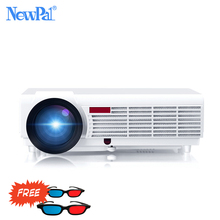 On sale NewPal 5000Lumens Home Projector Support 1920*1080Pixels Video Android WIFI 3D Mini LED Projector Home Business School Proyector