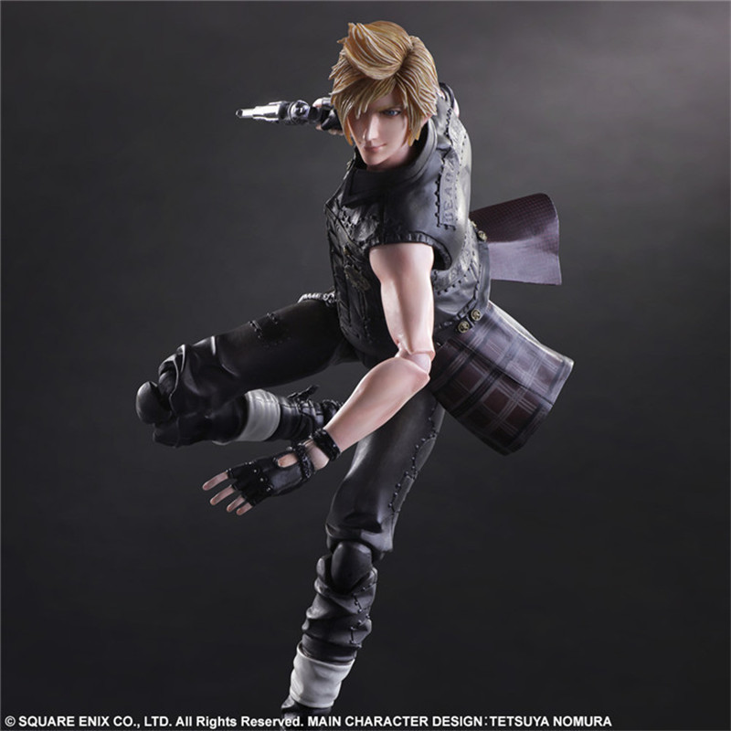 QICSYXJ High Quality Birthday Gift Supply FF Action Figure Collection 25cm PA Prompto Argentum Model Doll Decorations new hot 17cm avengers thor action figure toys collection christmas gift doll with box j h a c g