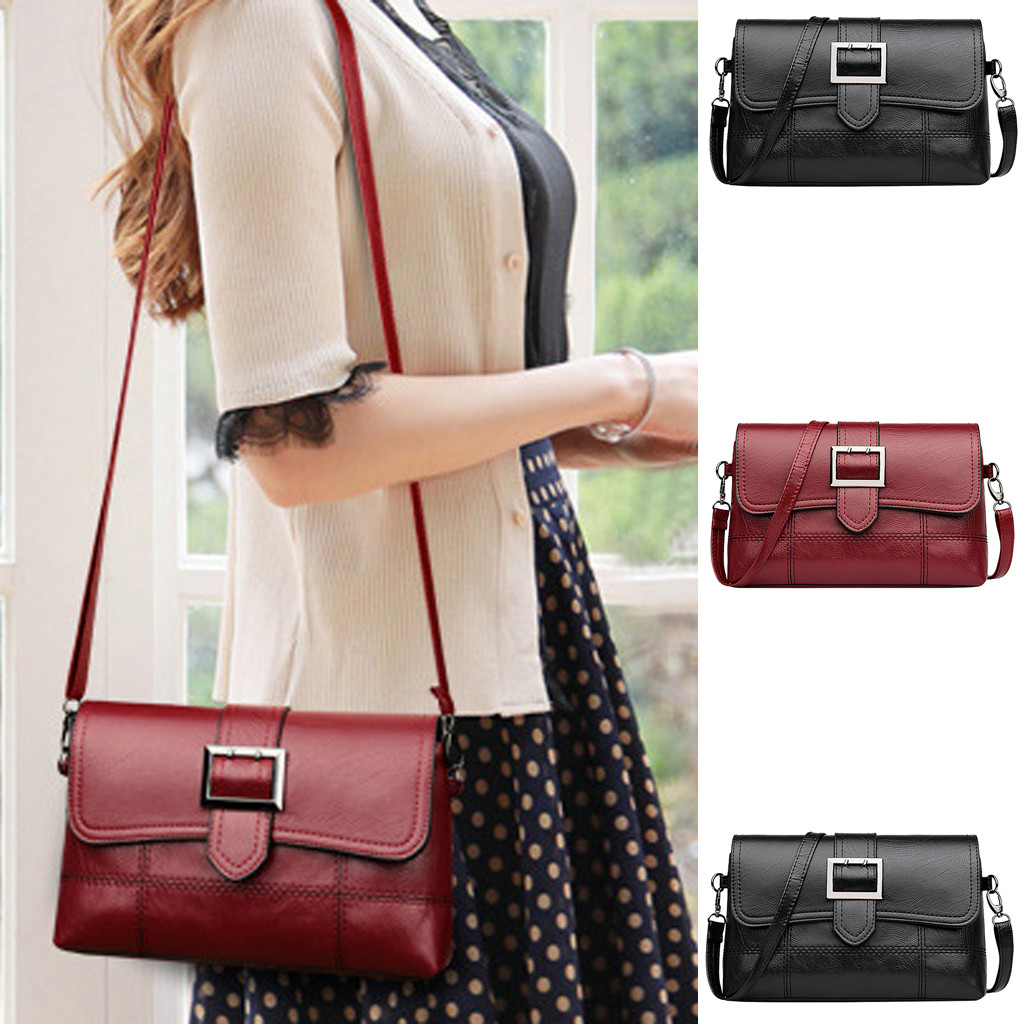 Handbags Women's Fashion Simple Pure Color Single Shoulder Messenger Bags bags for women 2019 bolsa feminina sac a main femme Top-Handle Bags     - title=