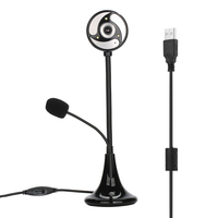 Removable HD Webcam 16M Pixels With Microphone With Standing Base And Flexible Studdle For Desk Foldable