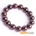 Natural Garnet Stone Beads Bracelet: 6mm To 12mm Natural Stone Bracelet DIY Jewelry Bracelet For Women For Gift Free Shipping