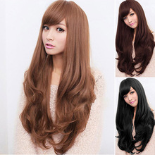 Curly Wavy Long Full Wig Heat Resistant