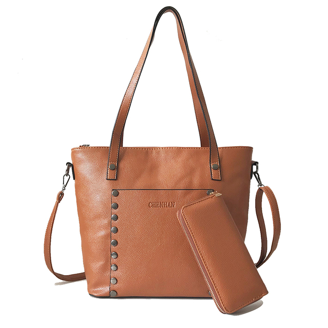 New Vintage Litchi Leather Luxury Handbags Women Bags Designer Top-Handle  Bags Big Shoulder Bags 364d0b8f23cf2