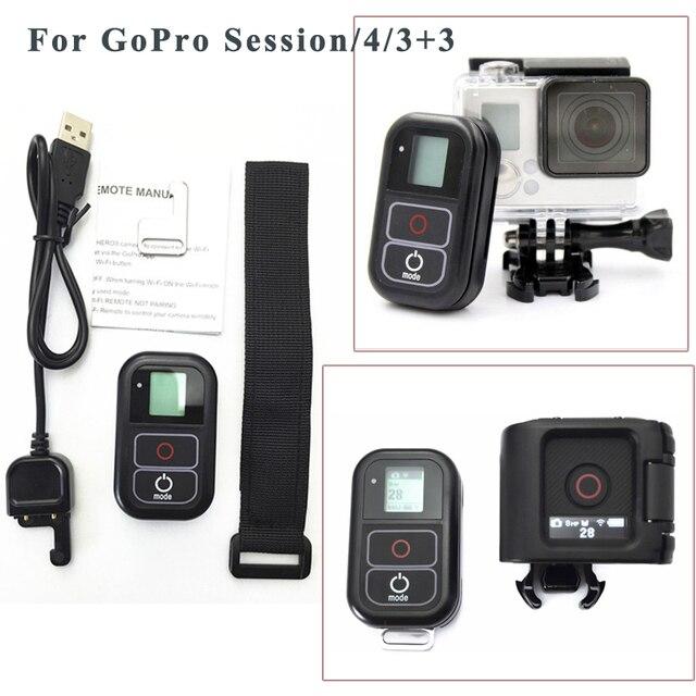 Аксессуары Для GoPro Дистанционного Управления + Беспроводной RC Зарядный Кабель + запястье пояс Для Gopro hero 5 4 Сессии 3 + 3 black edition