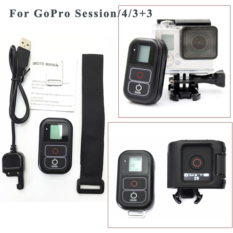 Accessories For GoPro Remote Control Wireless RC Charging Cable wrist belt For Gopro hero 5 4
