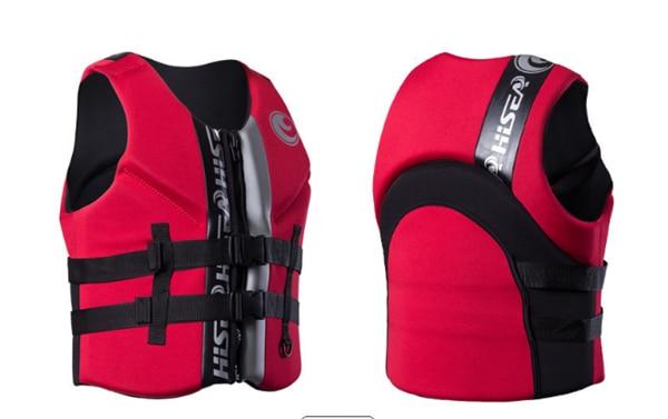 Hisea adult life vest buoyancy thickening drift vest marine snorkeling swimming suit Surfing scuba children lifejacket 4colors02