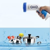 3 in 1 Electric Cleaning Bowl Brush Family Kitchen Washing Tool Plastic Pot Pan Dish Cleaning Brush Scrubber Cleaning Supplies