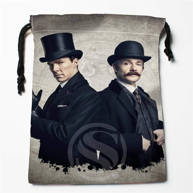 E#!x120 New Sherlock Series Custom Printed  Receive Bag Compression Type Drawstring Bags Size 18X22cm 7&12vc-qg120