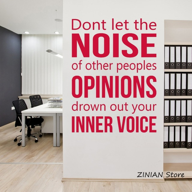 wall decal for office. Modren Office Inner Voice Wall Sticker Inspirational Quote Decal Office Room  Decoration Removable Art Diy Stickers Home On For
