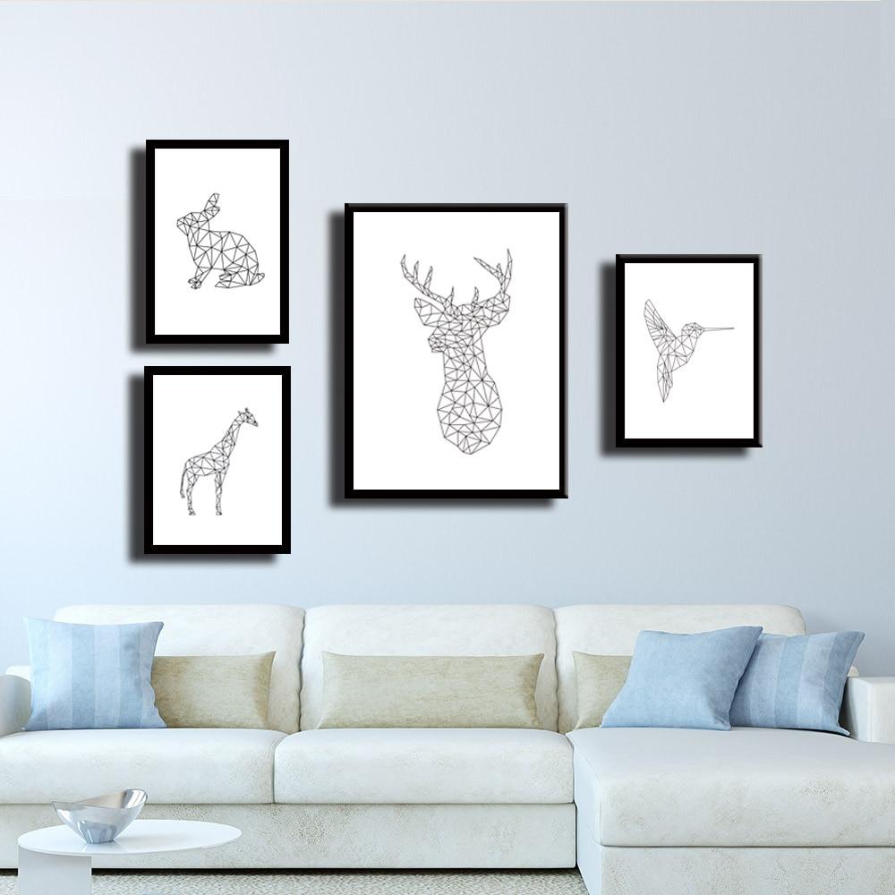 Triangle Polygonal Stile Siamese Kitten Art Print Wall Pictures ...