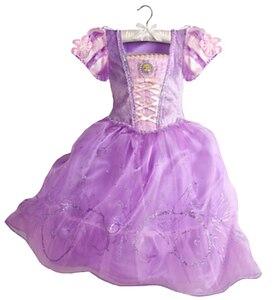 Image 5 - Summer Girls Dress Costume Kids Belle Sofia Sleeping Beauty Princess Dress Children Halloween Party Dress Up