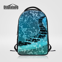 Dispalang Leisure Students Schoolbag Vintage Women Shoulder Bag Personalized Design Piano Key Laptop Backpack Ladies Travel