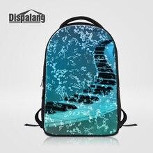 Dispalang Пианино ключ печати ноутбук Рюкзаки большой Ёмкость среднего студенты Школьные сумки Bookbags Для женщин мода рюкзак rugtas