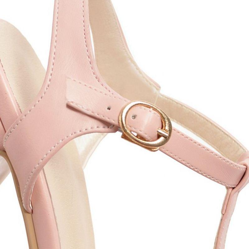 Las negro Beige Oficina Sandalias 2 De ivory rosado Tamaño Diaria Calzado Mujeres 2 blanco Zapatos Tobillo 43 Taoffen Correa Plataforma Hebilla marfil Tacones Altos black 32 Moda Los Verano p0xUwq1R