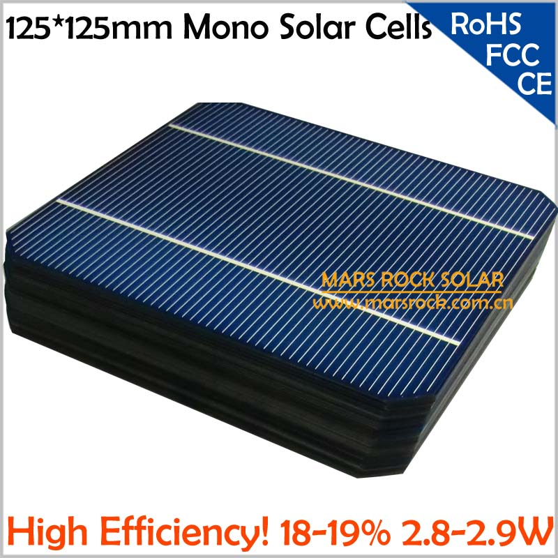 100pcs Lot Wholesale 125 X 125mm Mono Silicon Solar Cells