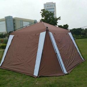 Image 1 - 5 8 kişi açık katlanır çadır hızlı otomatik açılış Pergola çift katmanlı kamp çadırı artırılmış su geçirmez güneş barınak