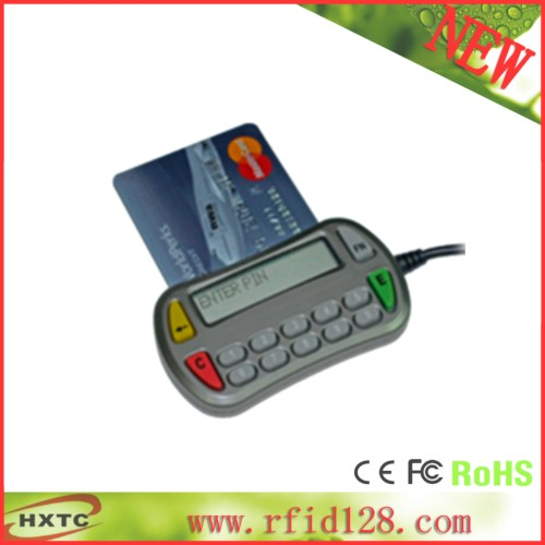 USB 14keys ACR83 PINeasy with keypad display screen Support Secure PIN Entry (SPE) ISO7816 Card with sdk +2PCS SLE4442 Cards programmable usb emulator rs232 interface 15 keys numeric keyboard password pin pad yd531with lcd support epos system sdk kit