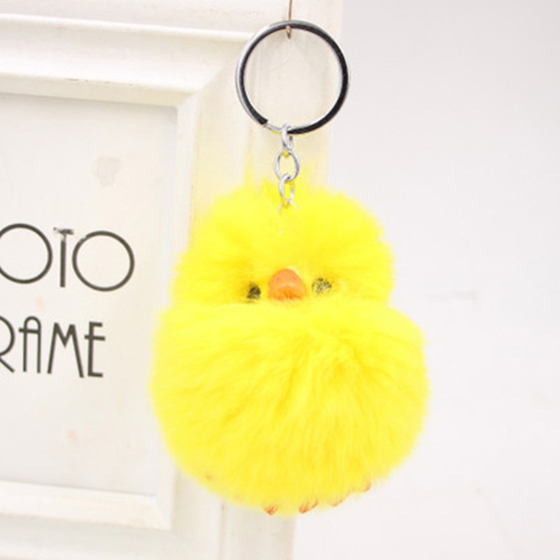 10cm Cute Yellow Duck Plush Toy Keychain Doll Novelty Funny Cartoon Animal Keychain Gift Stuffed Pendant Toys For Children 5pc