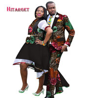 2019 African Clothing for Couples Dashiki African Couple Skirt Set Clothes for Women Mens African Blazer Clothing WY1283