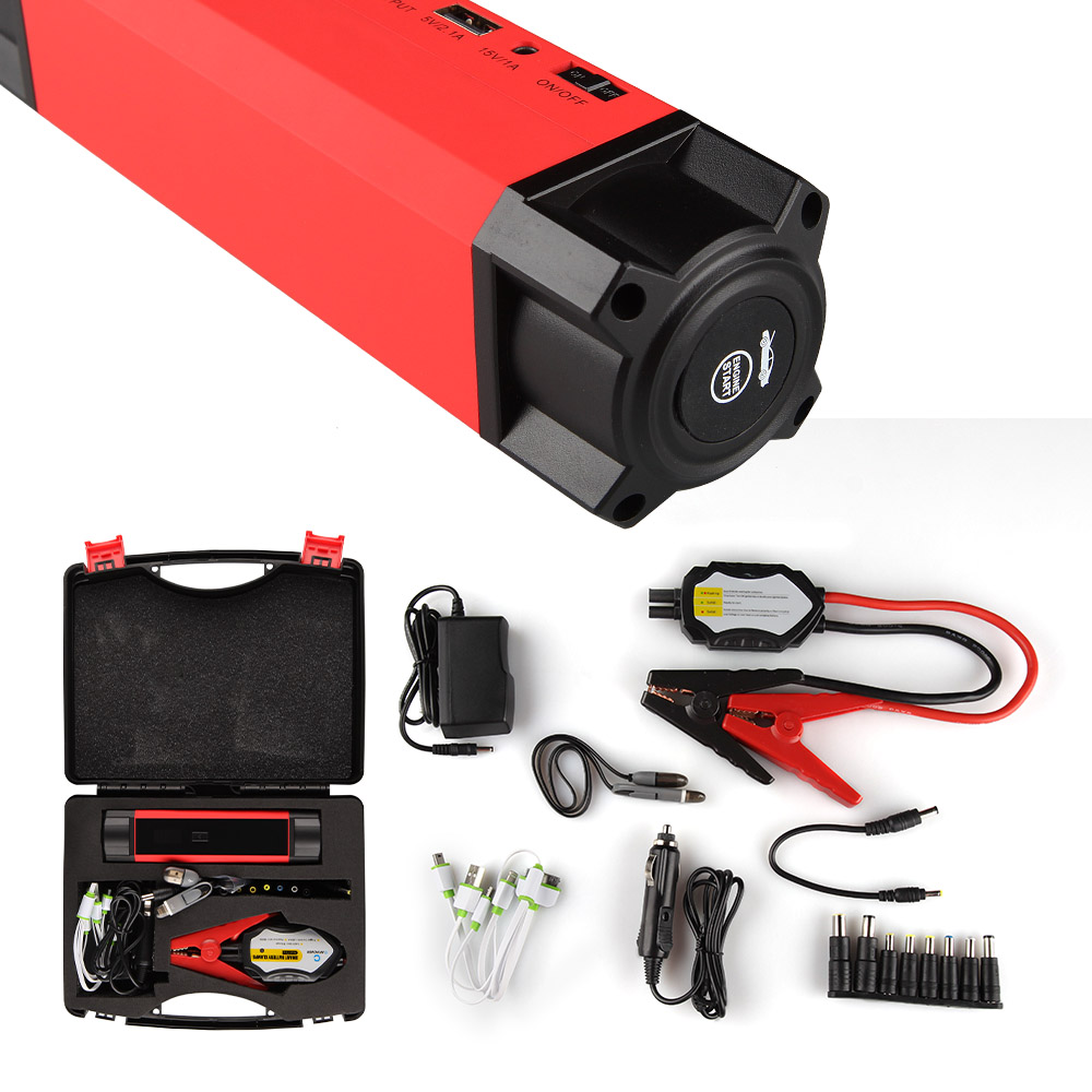 Portable Jump Starter Battery Charger for Gasoline & Diesel Vehicle with 54000mWh 1000A Peak Current Multifunction Emergency Kit-in Jump Starter from Automobiles & Motorcycles    1