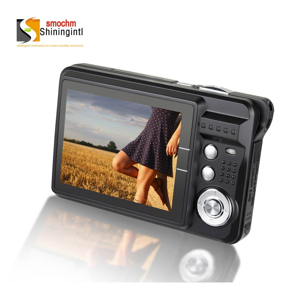 Smochm Digital Camera LCD 21M Pixels Portable Colorful HD 8x Zooming Photo Anti-Shake Video Record IGBT With 8/16/32 SD Card(China)