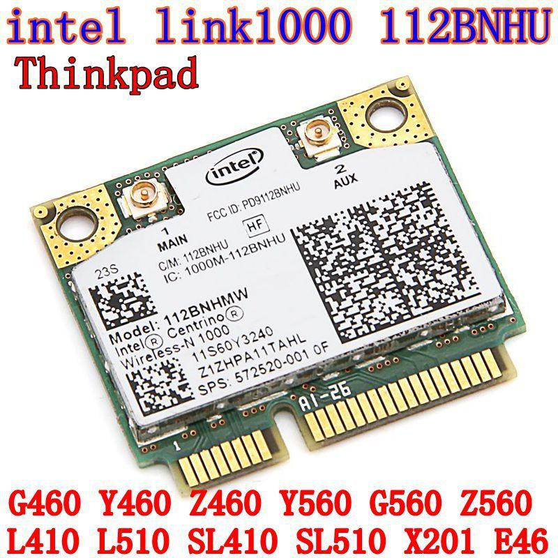 Intel Centrino Wireless-N 1000 MINI PCI-E 802.11b/g/n Wlan WIFI Wireless Card for  T410 T510 Y460 B460 Z460 G460 60Y3241