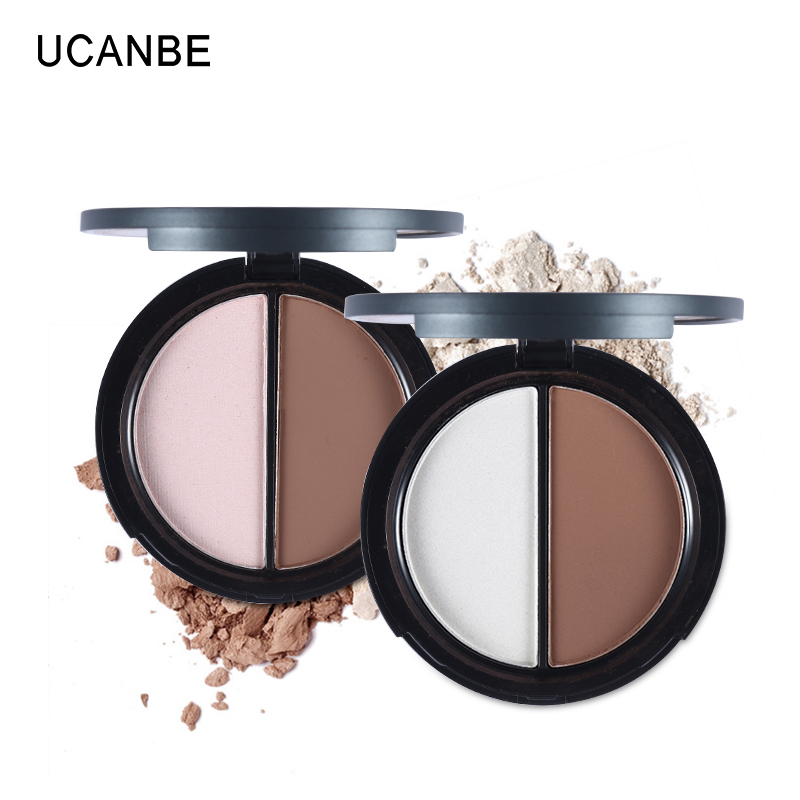 Ucanbe Brand 4 Colors Highlighter Makeup Palette Face Contour Brighten Concealer Long Lasting Bronzers Shimmer Powder Cosmetics Makeup Bronzers & Highlighters
