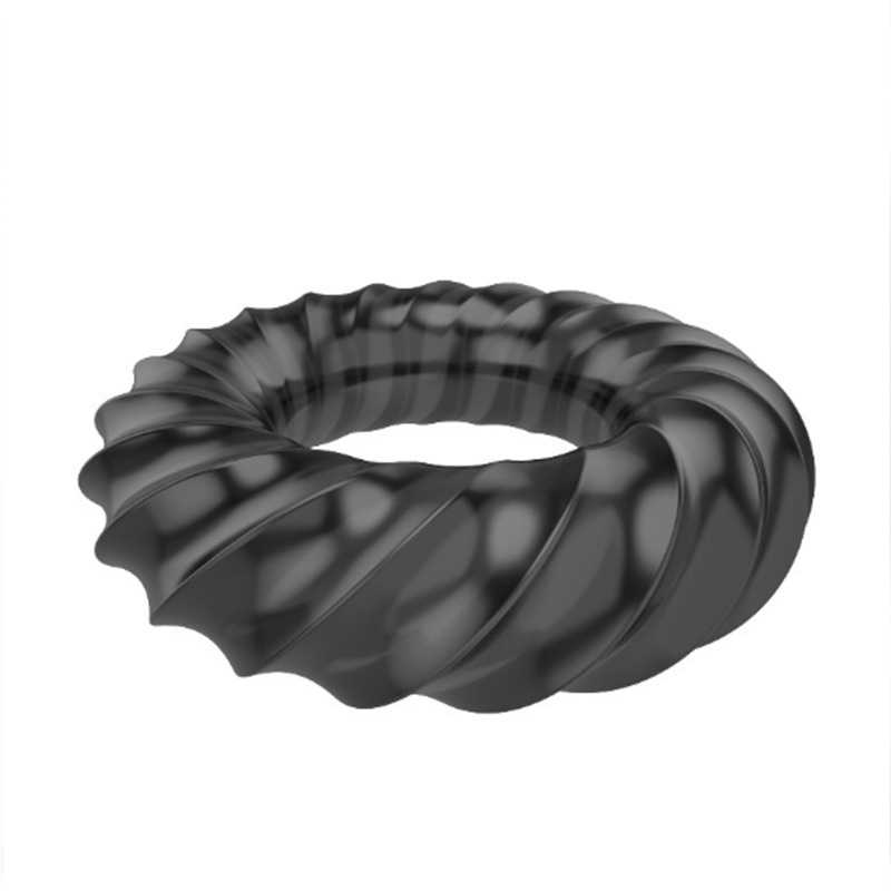 DELAY Ejaculation แหวนอวัยวะเพศชาย Cock ขยายแหวนอวัยวะเพศชาย Clitoral Stimulator Reusable ถุงยางอนามัยเพศของเล่นสำหรับผู้ชาย Extender