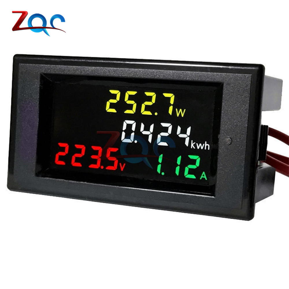 AC 80-300V LCD Digital 100A Volt Voltage Current Watt Power Kwh Meter Ammeter Voltmeter Proper