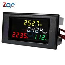 AC 80-300V LCD Digital 100A Volt Voltage Current Watt Power Kwh Meter Ammeter Voltmeter Proper