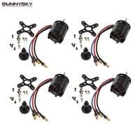 4set Lot Sunnysky X2216 880KV 1100KV 1250KV 2450KV Outrunner Brushless Motor For RC Airplane Dropship Wholesale