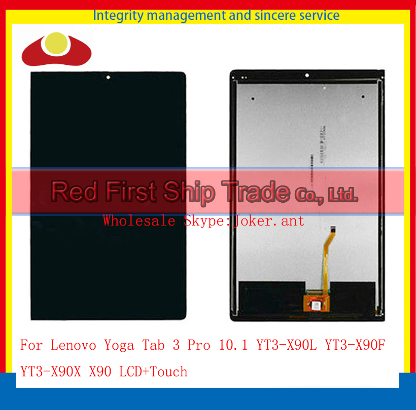 10.1 For Lenovo Yoga Tab 3 Pro YT3-X90L YT3-X90F YT3-X90X X90 Full LCD Display Touch Screen Sensor Digitizer Assembly Complete for lenovo yoga tab 3 pro 10 yt3 x90 yt3 x90f yt3 x90l m touch screen digitizer glass sensor panel replace black