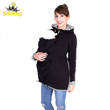 184dbc013 KAVKAS Baby Carrier Jacket Kangaroo Hoodie invierno maternidad Tops abrigo  para mujeres embarazadas llevar ropa de embarazo bebé