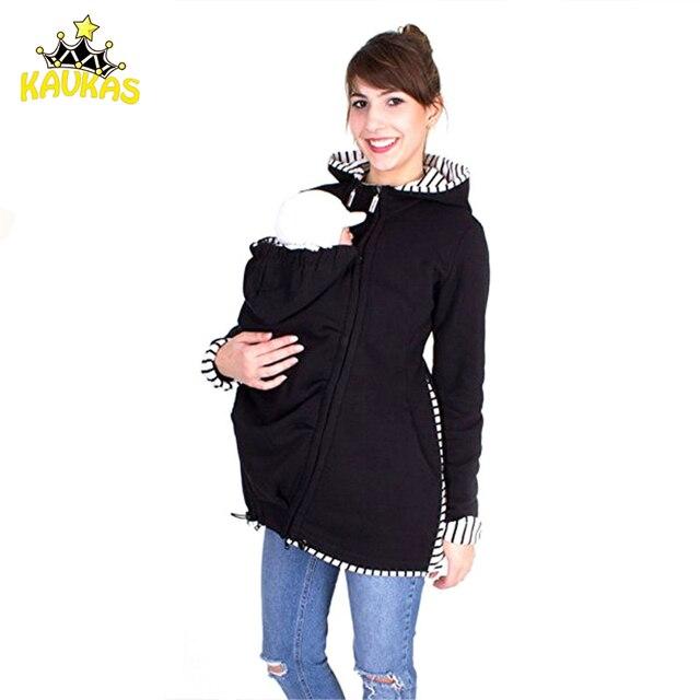 48c0d440d KAVKAS Baby Carrier Jacket Kangaroo Hoodie invierno maternidad Tops abrigo  para mujeres embarazadas llevar ropa de