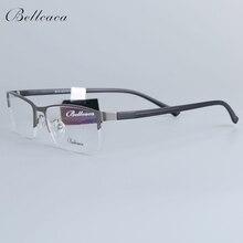 Bellcaca Spectacle Frame Men Eyeglasses Nerd Computer Optical Prescription Eye Clear Lens Glasses For Male Eyewear 6613