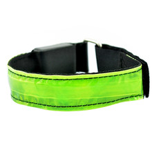 Hot LED Safety Reflective Shine Belt Strap Snap Wrap Arm Band Armband for Running Jogging Sports 7YH(China)