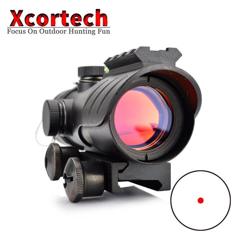 Tactial 1X30 lunette de visée rouge portée de chasse lunette de visée holographique lunette de visée Reflex point rouge portée de fusil pour la chasse au pistolet à air