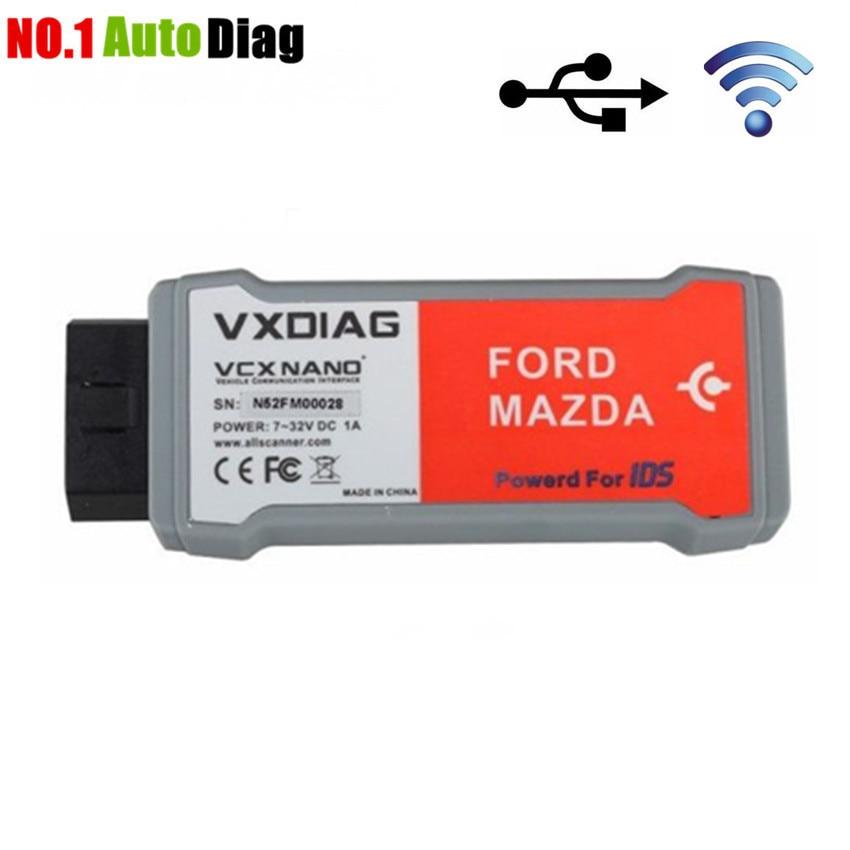 Prix pour Professionnel Sans Fil Outil De Diagnostic pour Ford/Mazda 1996-2016 IDS V100.01 VXDIAG remplacement Pour Ford VCM II 2 VCM2 Scanner