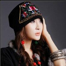 Мексиканский стиль весна и осень Этническая винтажная Вышивка Цветы банданы Черный Красный Синий принт Шляпа Кепка