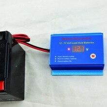 Désulfatateur régénérateur de batterie 12V 24V 36V 48V, pour Batteries au plomb 12V   72V avec câbles à déconnexion rapide