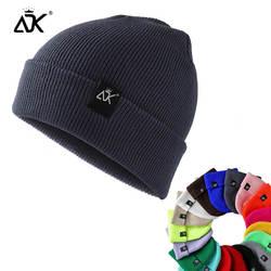 Унисекс шапки вязаные ADK бирки кепки женские Beaines для зимы дышащие мужские Gorras простые головные уборы теплые однотонные повседневные