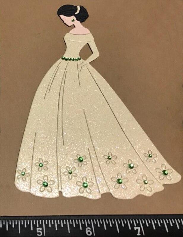bride dress Dies cutting metal decorative Scrapbooking Steel Craft ...