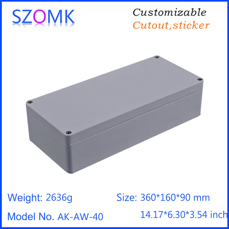 1 piece, 360*160*90mm standard die cast enclosure aluminium amplifier electronics waterproof equipment project box free shipping 1piece lot top quality 100% aluminium material waterproof ip67 standard aluminium box case 64 58 35mm