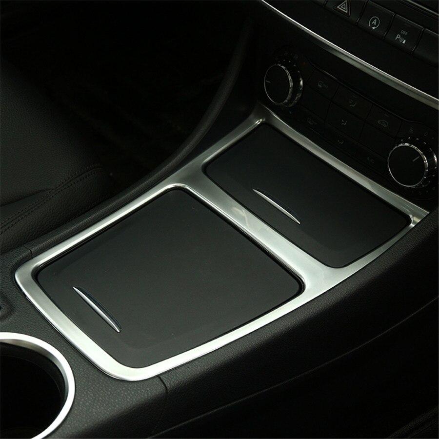 Chrome interior accessory center console panel trim for mercedes benz cla gla a class cla200