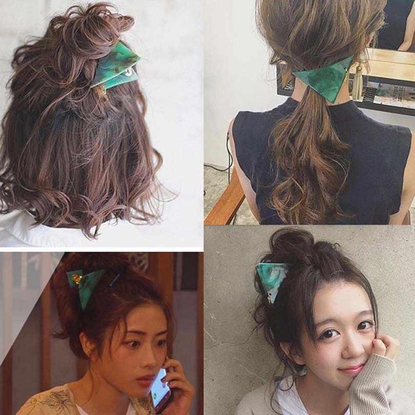 Мода 2019, корейский мраморный узор, Заколки для женщин, боковая челка, головной убор, заколка для волос, аксессуары для волос, заколки