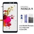 100% prueba sin píxeles muertos para Nokia 9 lcd pantalla 2018 versión para teléfono móvil lcd montaje de pantalla reemplazo de reparación negro - 1