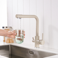 Modern Kitchen Faucet 360 Degree Rotation with Water Purification Features Dual Handle Single Hole Sink Mixer Tap Crane 88310 frap white spray painting kitchen faucet seven letter design 360 degree rotation with water purification features f4352 8