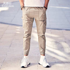 Image 4 - Enjeolon 2020 New Summer Mens Cargo Pants Men Joggers Military Casual Solid Cotton Pants Hip Hop Male Army Trousers KZ6345
