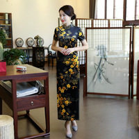 Fashion 2018 Vintage Cheongsam Long Qipao Traditional Chinese Dress Oriental Style Dresses China Clothing Store Robe